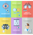 ophthalmologist or oculist vertical banners vector image