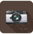 Retro vintage camera on tile vector image