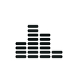 simple black Equalizer icon on white background vector image