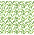 Seamless pattern Green olives Olive endless vector image