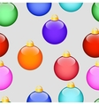 Pattern with Christmas colored balls on grey vector image