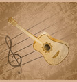 Classic Guitar Background Theme EPS10 Vector Image