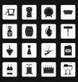 wine icons set squares vector image