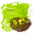 Vintage Easter background vector image vector image