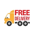 Free Delivery Icon Flat Style vector image