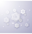 snowflakes on a blue background vector image