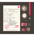 Library card Idea Wedding Invitation design vector image