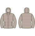 Down jacket vector image vector image