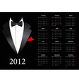 vector european calendar 2012 with elegant suit st vector image vector image