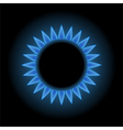 Blue flames of gas stove vector image