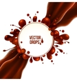 diagonal chocolate flow with round drops vector image