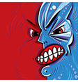 Angry face cartoon vector image