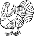 farm turkey cartoon for coloring book vector image