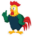 rooster cartoon giving thumb up vector image
