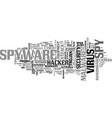 spyware word cloud concept vector image