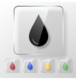 Water oil or blood drop icon vector image