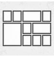 Modern black frames set vector image