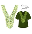 Neckline embroidery Beautiful fashionable collar vector image