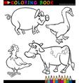 Cartoon Farm Animals for Coloring Book vector image