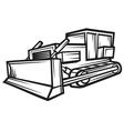 caterpillar building bulldozer vector image vector image