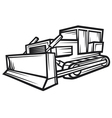 caterpillar building bulldozer vector image