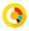 infographic pie flat circle icon vector image