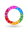 Teamwork business network logo vector image