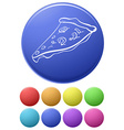Small buttons and a big button with a pizza vector image vector image