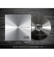 metal cd cover vector image
