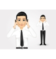 businessman talking on two cell phones vector image
