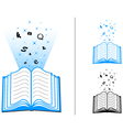 book of learning vector image