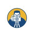 Photographer With Camera Retro vector image