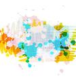 Banner background design with ink splatter vector image