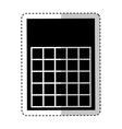 bingo card isolated icon vector image