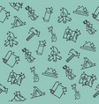 boy scouts concept icons pattern vector image