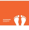 Child pair of footprint sign icon Barefoot vector image