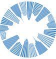 City real estate logo background vector image