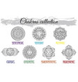 collection with hand drawn charkas vector image