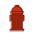 fire hydrant on the street emergency equipment vector image