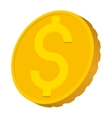 Gold coin with Dollar sign icon cartoon style vector image