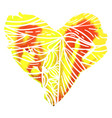 heart for st valentine day vector image