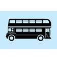 London bus silhouettes vector image