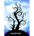 whimsical tree vector image