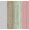 Wood pattern background set vector image