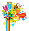 abstract colorful festival decoration background vector image vector image
