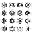 Simple snowflake icons vector image