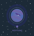 NEPTUNE space view vector image