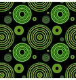 Seamless green geometric pattern vector image vector image