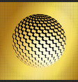 set abstract halftone 3d spheres 40 vector image
