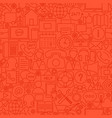 contact red line tile pattern vector image